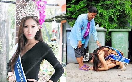 VietNamNet, hoa hậu quỳ lạy mẹ bên thùng rác, hình ảnh phản cảm