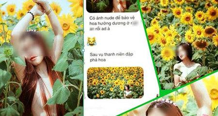 Thiếu nữ Đà Lạt khỏa thân bảo vệ hoa hướng dương?
