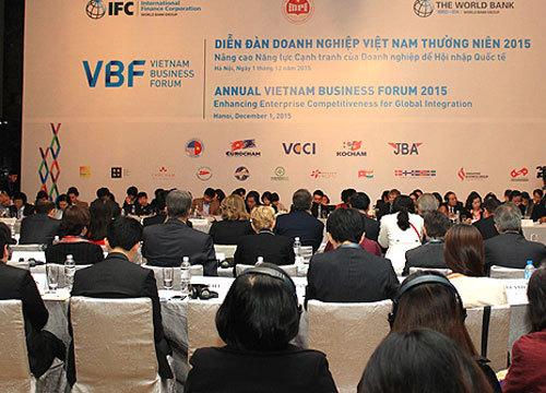 diễn đàn doanh nghiêp, VBF, WB, Vũ-Tiến-Lộc, hội-nhập, Việt-Nam, ASEAN, AEC, TPP, DN-tư-nhân, môi-trường-kinh-doanh, năng-lực-cạnh-tranh, diễn-đàn-doanh-nghiệp