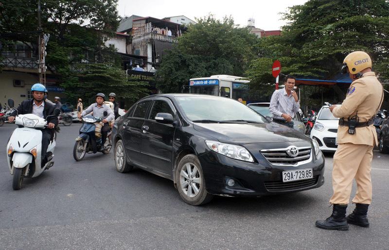 Công an Hà Nội, phạt nguội, CSGT Hà Nội, camera giao thông, gửi phạt nguội về nhà