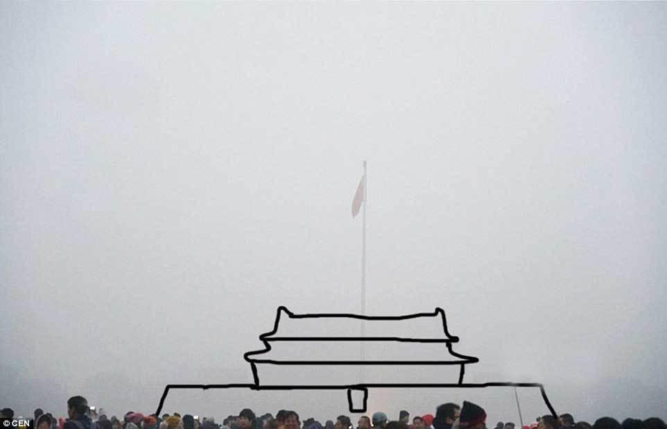 Bắc Kinh 'tàng hình' trong khói mù