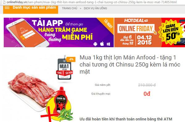 Onlinefriday: Lừa đảo với giá ảo 0 đồng