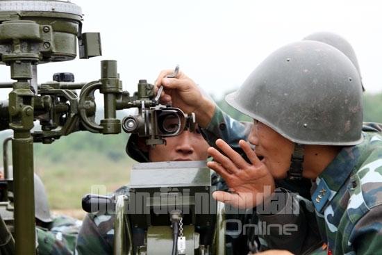 pháo phòng không, diễn tập bắn đạn thật, quân chủng phòng không