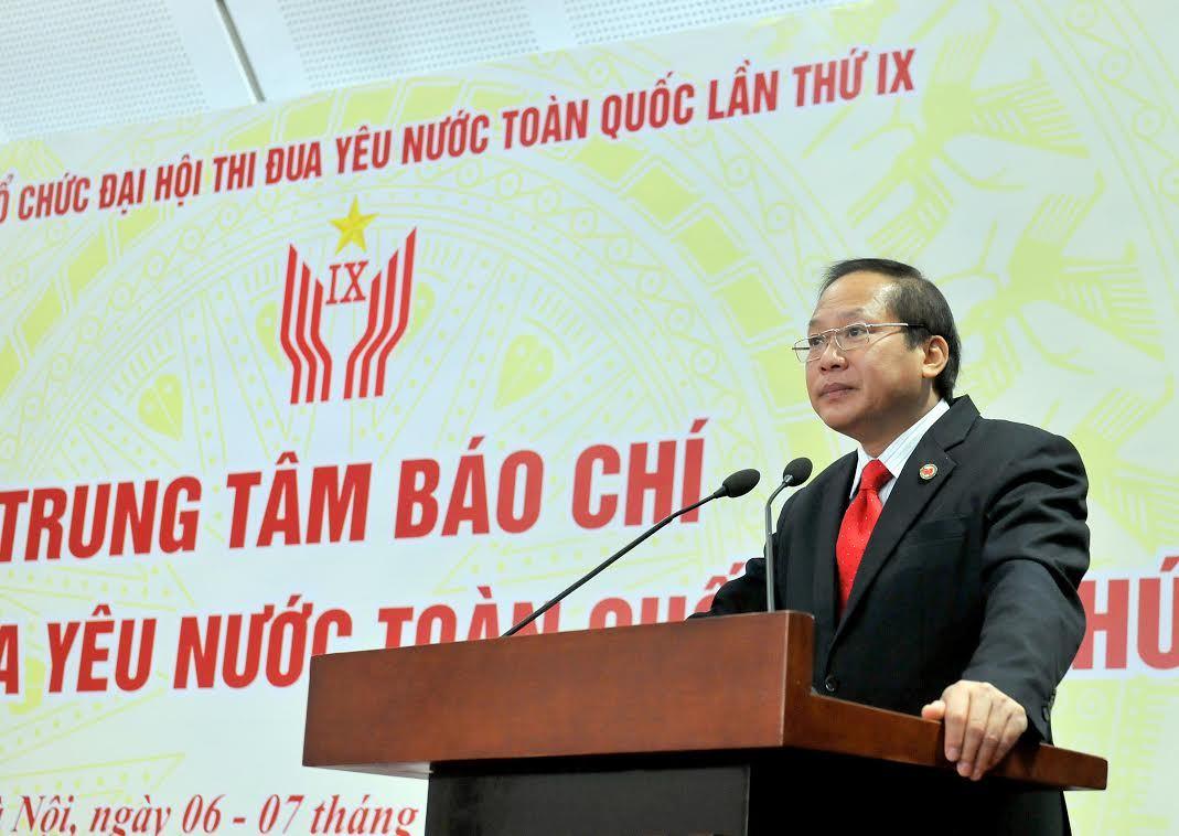 trung tâm báo chí, đại hội thi đua yêu nước toàn quốc, Thứ trưởng Bộ TT&TT, Trương Minh Tuấn