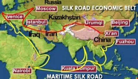 Một vành đai một con đường, con đường tơ lụa, Tân Cương, đường sắt cao tốc, Nhân dân tệ, đô la, Giấc mộng Trung Hoa