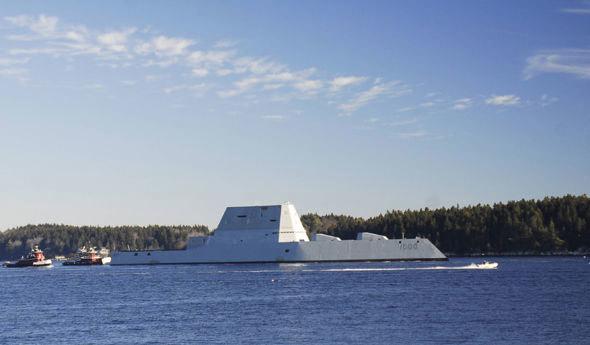 Hình ảnh tàu chiến tàng hình giá hàng tỷ đô