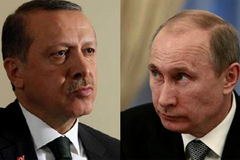 Cuộc đấu trí căng thẳng giữa Putin-Erdogan
