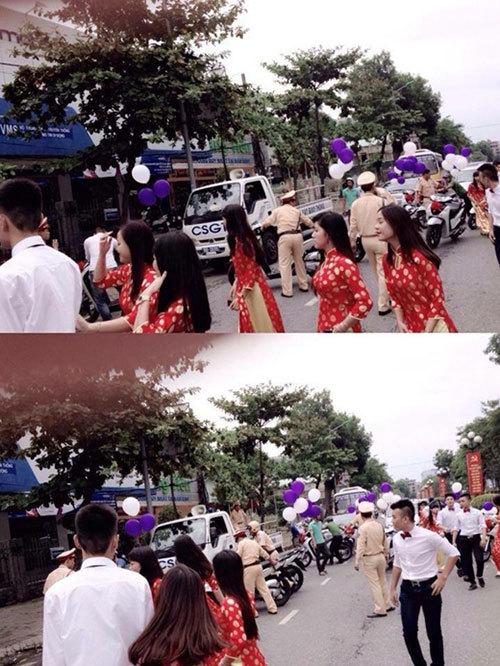 Đoàn xe SH 'đầu trần' rước dâu bị CSGT thổi phạt