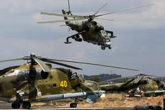 Trực thăng tấn công Nga áp sát Thổ Nhĩ Kỳ