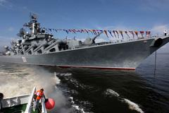 Dàn tàu chiến khủng Nga phô uy lực ở Syria