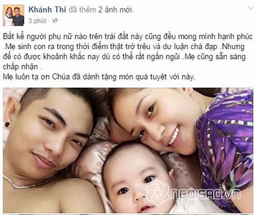 Khánh Thi: Mẹ sinh con trong thời điểm bị dư luận 'chà đạp'