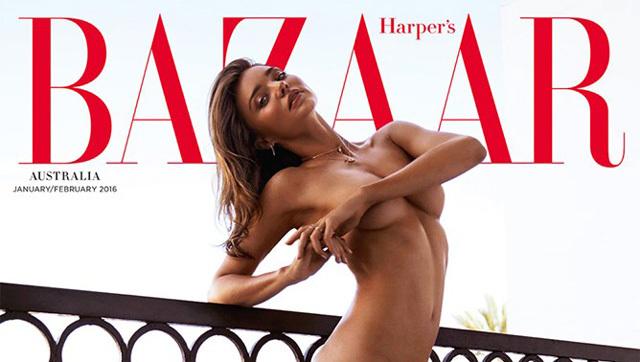 Siêu mẫu nội y khỏa thân hoàn toàn trên bìa tạp chí