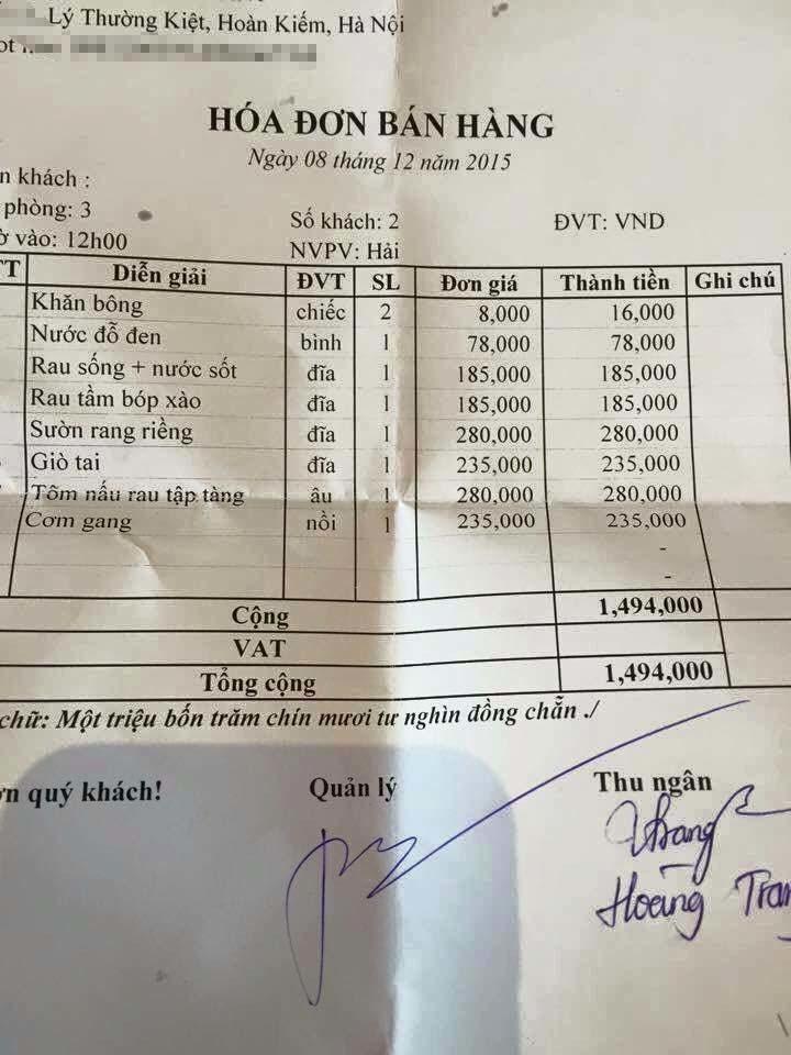 'Cơm bụi' hạng sang giá 1,5 triệu ở Hà Nội