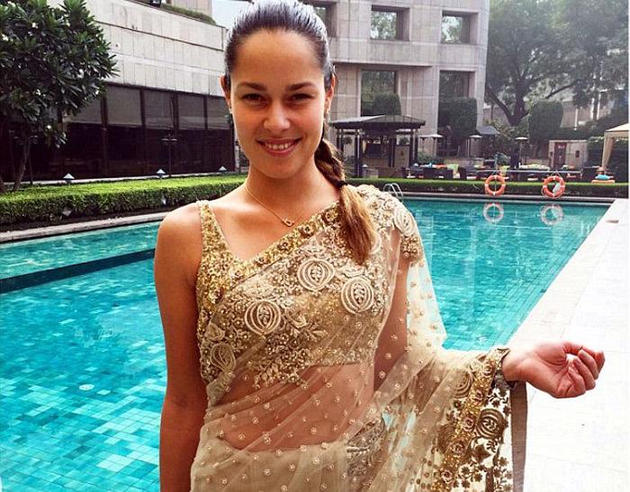 Bồ Schweinsteiger đẹp rạng ngời trong trang phục Ấn Độ