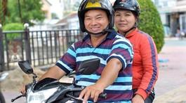 Vợ chồng 'hiệp sĩ' chạy xe máy lùng tội phạm