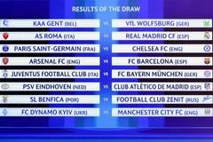 Toàn cảnh lễ bốc thăm vòng 1/8 Champions League