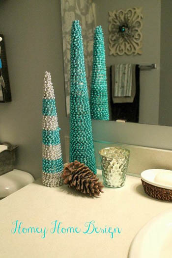 trang trí nhà đón Noel, Giáng sinh, mang Giáng sinh vào phòng tắm, phòng tắm đẹp