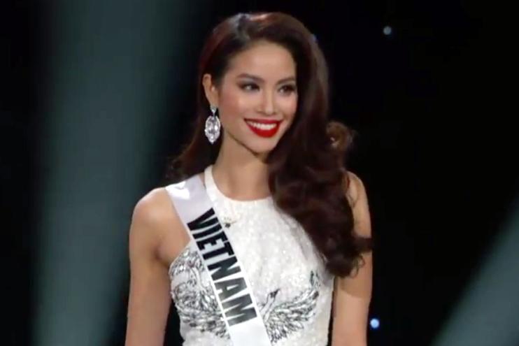 Phạm Hương tự tin ở bán kết Miss Universe 2015