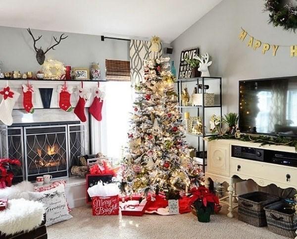 10 ý tưởng trang trí phòng khách đa dạng cho mùa giáng sinh