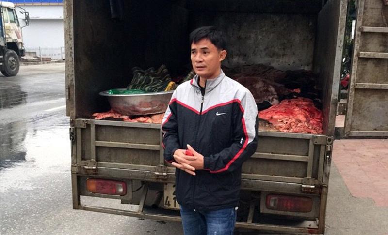 Bắt hơn 1 tấn nội tạng trâu bò đang tuồn vào HN