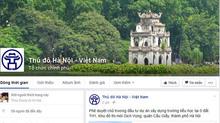 Chính quyền Hà Nội đưa thông tin lên facebook