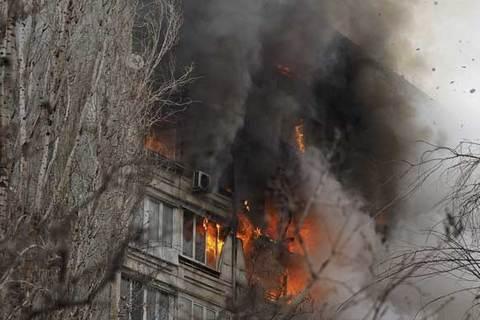 nổ lớn ở chung cư Nga