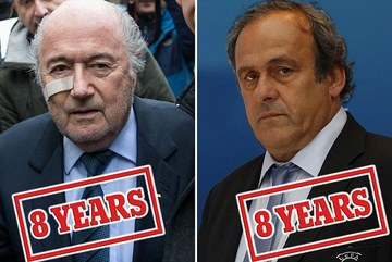 Platini và Blatter bị cấm hoạt động bóng đá 8 năm