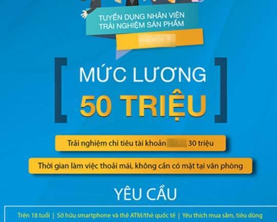 Hà Nội: Tuyển người tiêu tiền, trả lương 50 triệu/tháng