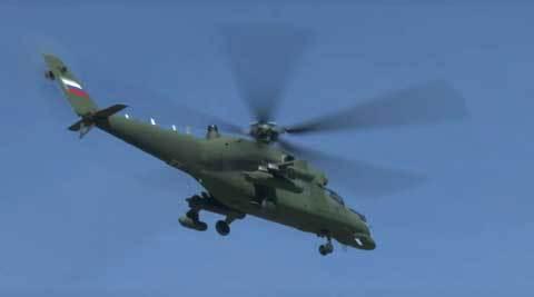 trực thăng Nga lộ diện