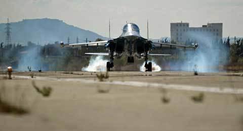 Xem máy bay ném bom Su-34 oanh tạc IS