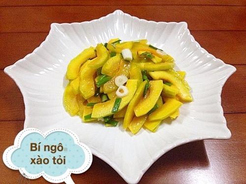 thực đơn, bữa cơm, bí ngô, cơm tối, bếp ấm, vietnamnet, vnn, tin nong, tin moi, vietnamnet.vn
