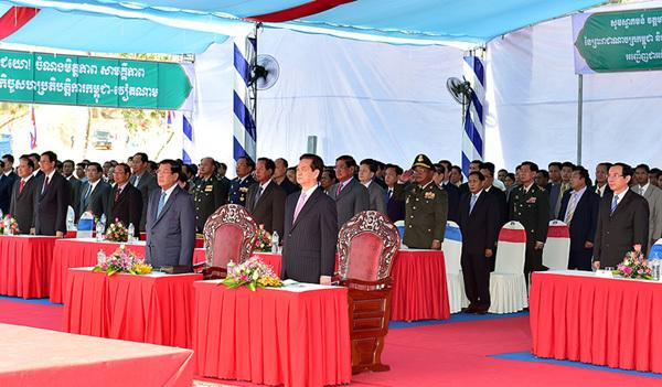 Thủ tướng Nguyễn Tấn Dũng, Thủ tướng Vương quốc Campuchia Hun Sen, cột mốc, biên giới, Việt Nam-Campuchia