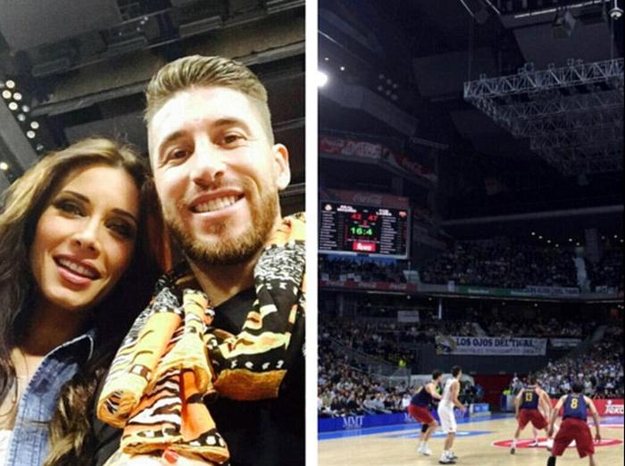 Nhàn rỗi, Ramos rủ bồ 'giải khuây' trên sân bóng rổ