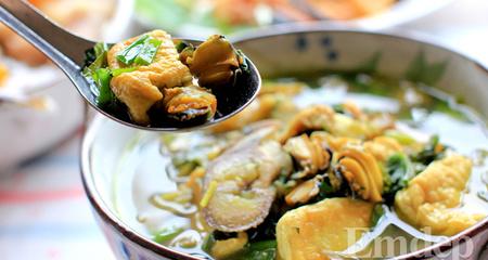 Canh ốc om chuối đậu cho mùa đông lạnh