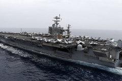 Tàu sân bay Mỹ tránh được tên lửa Iran trong gang tấc