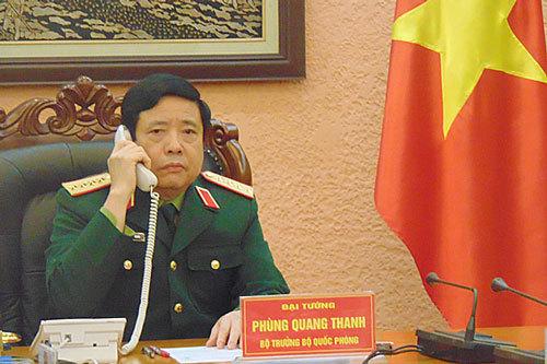 Bộ trưởng Quốc phòng Việt-Trung điện đàm