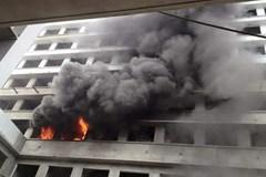 Cháy lớn ở công trình BV Bệnh Nhiệt đới Trung ương