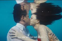 Cận cảnh màn hôn dưới nước của Đinh Ngọc Diệp và Bình Minh
