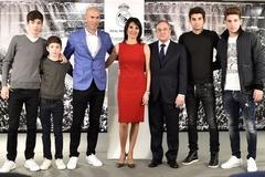 """Vợ con """"đại náo"""" buổi lễ nhậm chức của Zidane"""
