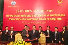 Bộ TT&TT và Bộ Ngoại giao hợp tác về ATTT