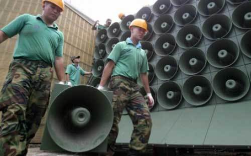 Triều Tiên, Hàn Quốc, bom nhiệt hạch, loa phóng thanh, tuyên truyền