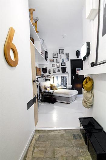 20160108155856 image002 Thiết kế không gian căn hộ 39m² cực chất với cặp màu đen   trắng kinh điển