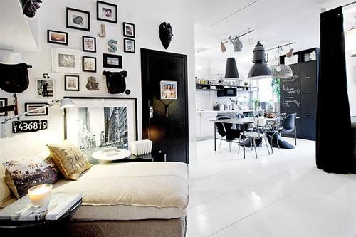 20160108155856 image003 Thiết kế không gian căn hộ 39m² cực chất với cặp màu đen   trắng kinh điển