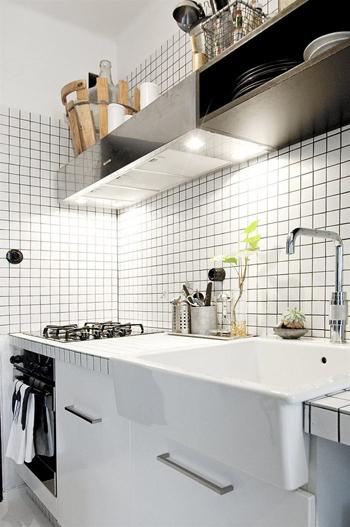 20160108155856 image005 Thiết kế không gian căn hộ 39m² cực chất với cặp màu đen   trắng kinh điển