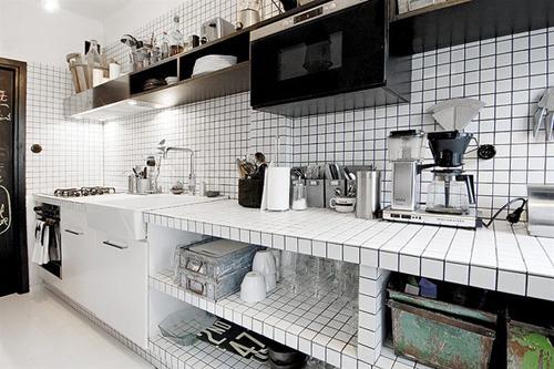 20160108155856 image006 Thiết kế không gian căn hộ 39m² cực chất với cặp màu đen   trắng kinh điển