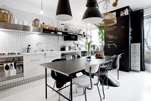 20160108155856 image007 Thiết kế không gian căn hộ 39m² cực chất với cặp màu đen   trắng kinh điển