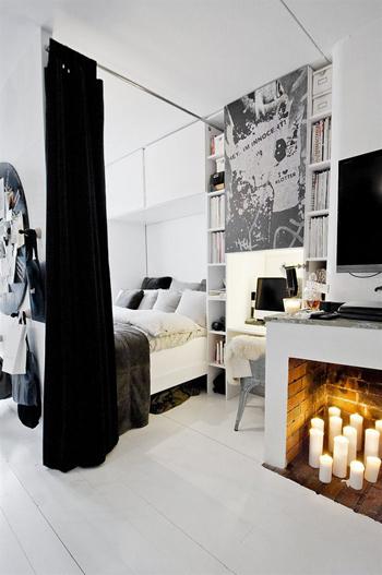 20160108155856 image010 Thiết kế không gian căn hộ 39m² cực chất với cặp màu đen   trắng kinh điển