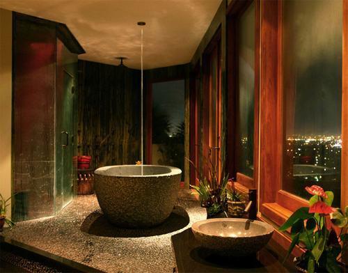 các ý tưởng thiết kế phòng tắm, thiết kế phòng tắm theo phong cách nhiệt đới, phòng tắm đẹp, nội thất phòng tắm