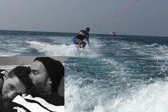 Beckham tôn con trai làm thầy dạy lướt ván