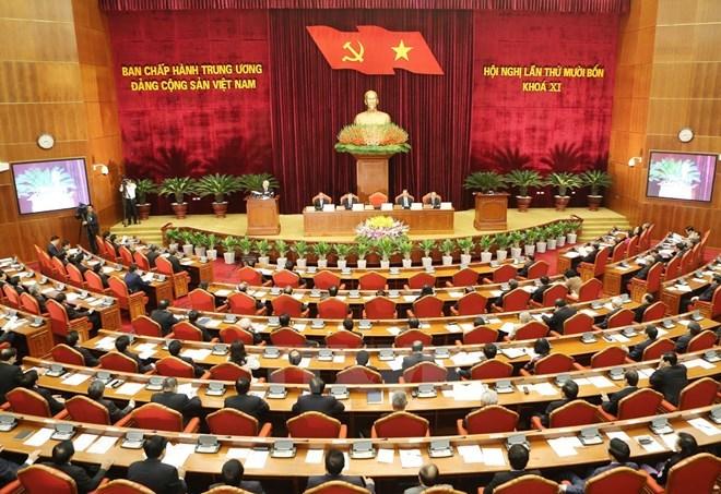 hội nghị trung ương 14, nhân sự, Bộ Chính trị, Ban Bí thư